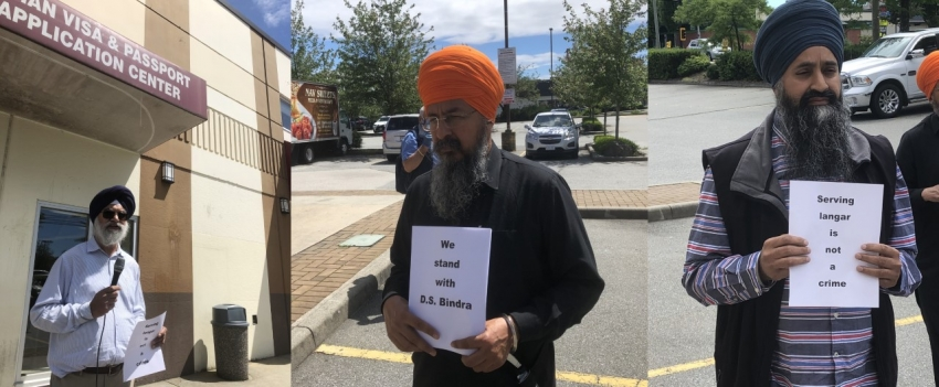 Rally in support of a Sikh advocate who organized langar for CAA protestors held in Surrey