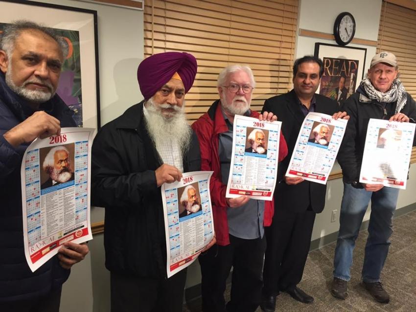 Radical Desi releases calendar dedicated to Karl Marx
