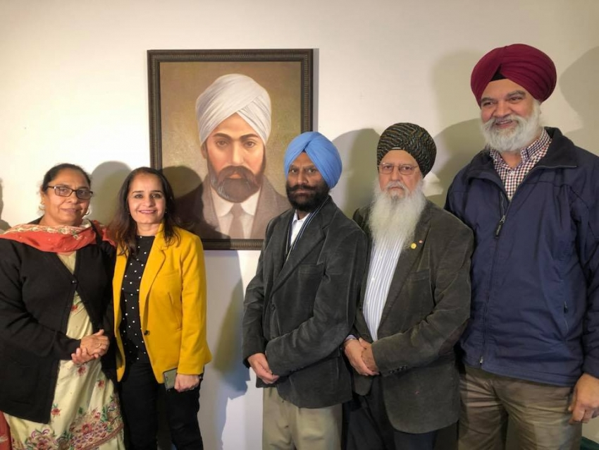 Mewa Singh's portrait installed at the constituency office of MLA Rachna Singh
