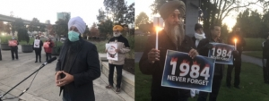 Vigil in memory of the victims of Sikh Genocide held in Surrey