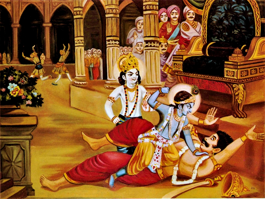 Which evil and who would Krishna battle if he were born today?