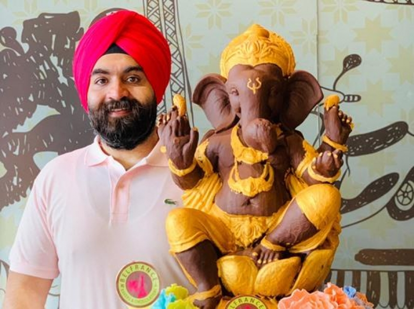 Sikh businessman's eco-friendly initiative involving Hindu god gives hope in these depressing times