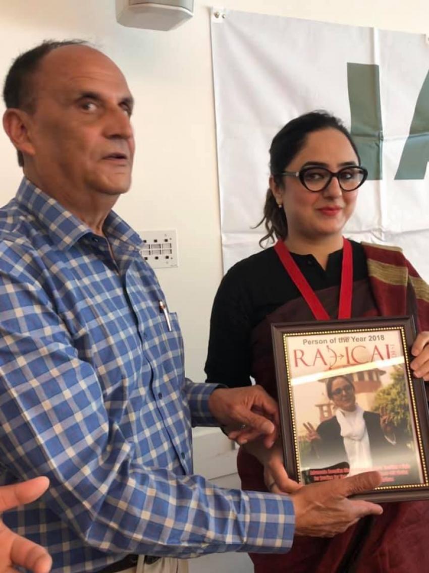 Indian lawyer Deepika Singh Rajawat presented with medal of courage in Surrey