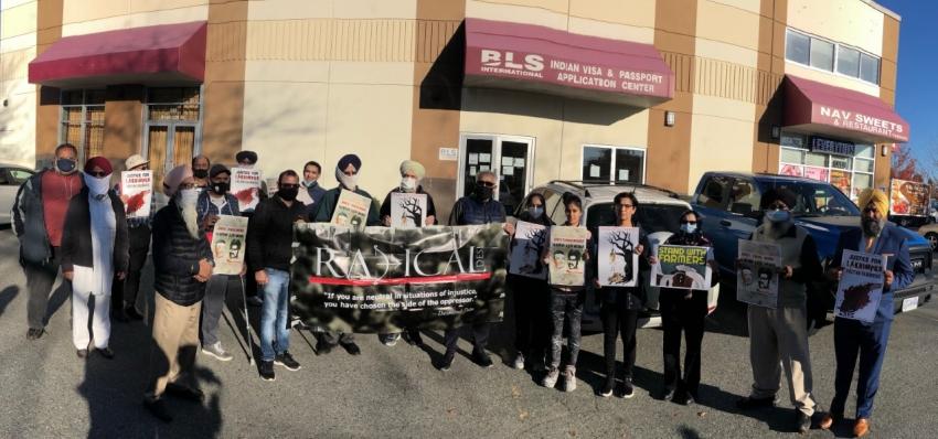 Rally against Lakhimpur Kheri killings of farmers held in Canada