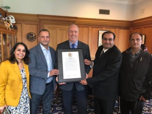 BC Premier presents Jallianwala Bagh Massacre proclamation to community activists